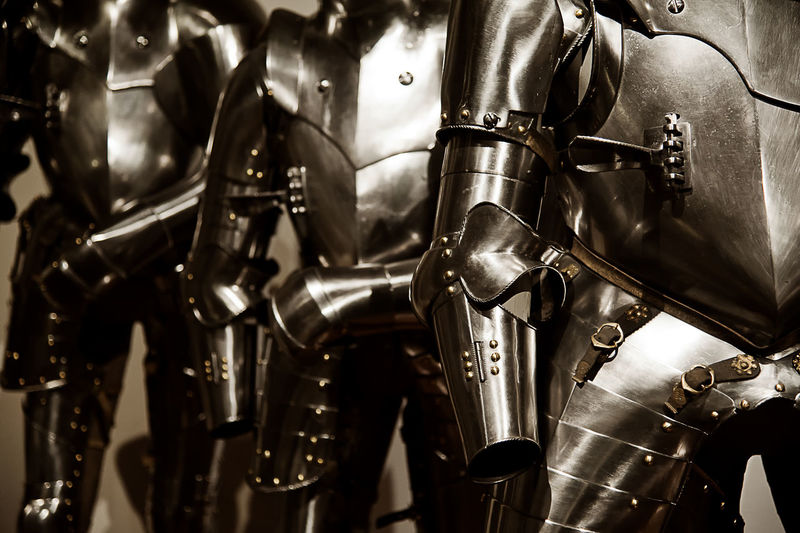 Details of ancient armors