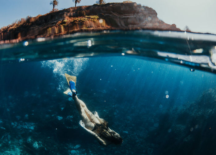uw Diving EyeEm Best Shots EyeEmNewHere Ocean View Summer Views Summertime UnderSea Beach Beauty In Nature Bikini Eye4photography  Girl Nature Ocean One Person Outdoors Sea Seascape Summer Swimming Tenerife UnderSea Underwater underwater photography Water The Traveler - 2018 EyeEm Awards