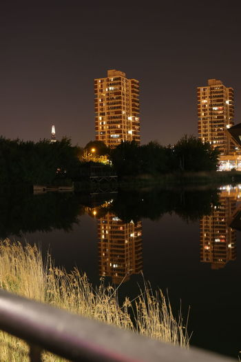 Canada Water London lifestyle Architecture Building Building Exterior Built Structure City Illuminated Lake Nature Night No People Outdoors Plant Reflection Reflections In The Water Sky Symmetry Tree Water Waterfront