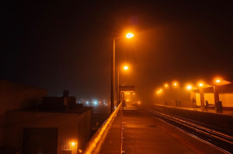 Staten Island Gold Fine Art Photography Street Photography Subway Scene Nightphotography Foggy Fog SIR No People City Capture Tomorrow