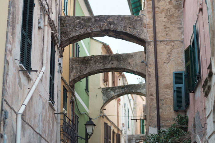Arch Architecture Built Structure EyeEm Gallery Historic Historical Center Historical Sights History Italian Italy Liguria Liguria - Riviera Di Ponente Low Angle View Old Outdoors Pastel Colors Run-down Santo Stefano Al Mare Tradition