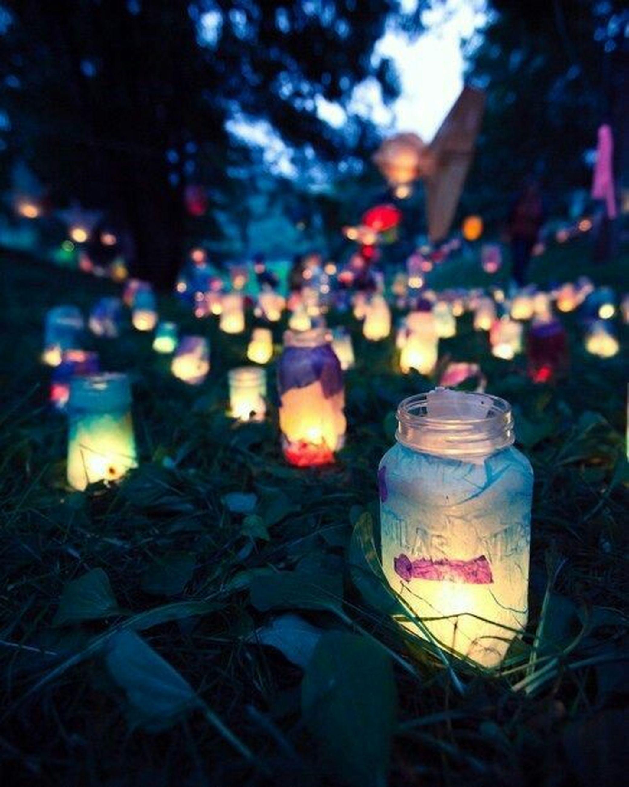 candle, illuminated, burning, flame, night, heat - temperature, no people, multi colored, outdoors, oil lamp, tea light