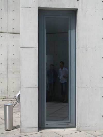 Architecture Building Exterior Concrete Concrete Wall Door In Front Of Patio Reflections Tadao Ando Vitra Design Museum Window Reflection Minimalist Architecture