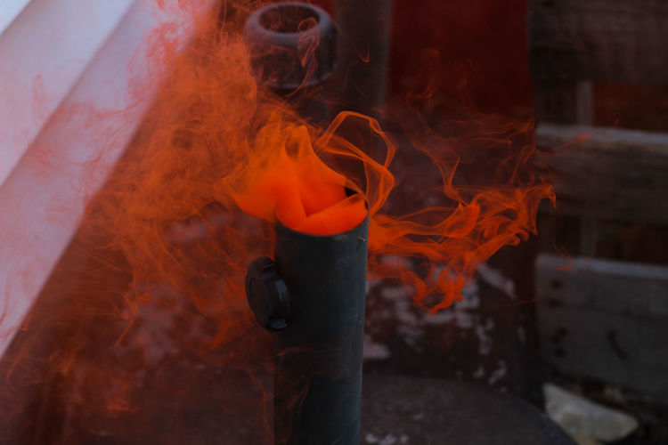 Outdoors Orange Smoke Colored Colorful Metal Industry Foundry Factory Industry Molten Flame Heat - Temperature Burning Red Orange Color Firework - Man Made Object Entertainment Smoke - Physical Structure Emitting Atmospheric The Still Life Photographer - 2018 EyeEm Awards