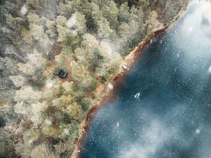 winter drone shot from turku finland Sea High Angle View UnderSea Beach Nature Underwater Shades Of Winter