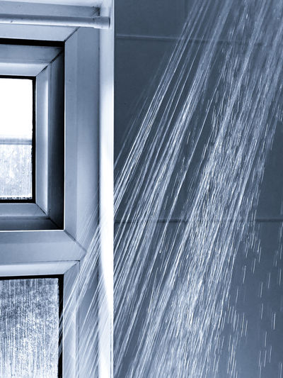 Close-up of modern glass window