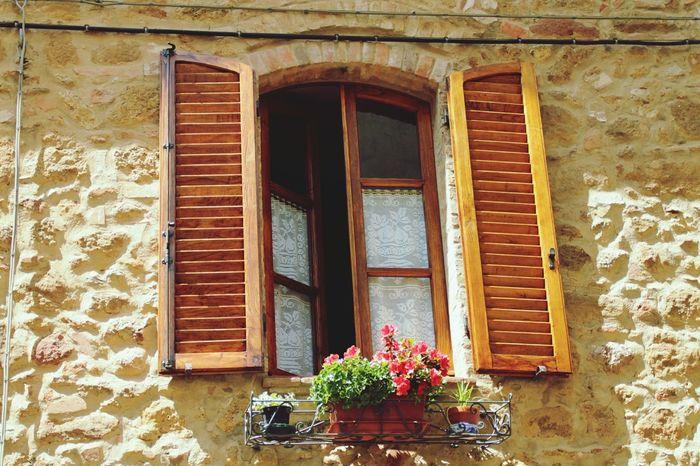 Window Pienza (toscana) Valdorcia Toscana