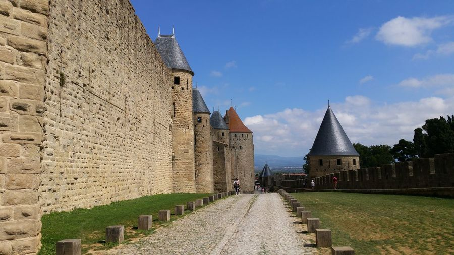 Carcassonne Carcassonne City Ramparts Château Fortified Wall Civilization Fortress Medieval Castle Office Building