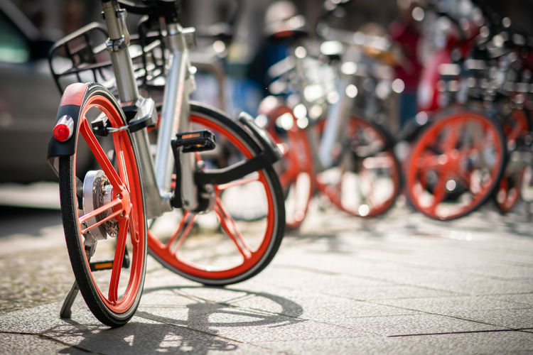 Rental bike Cityscape Fahrrad Bicycle City Close-up Day Focus On Foreground Mode Of Transportation No People Selective Focus Street Tour Tourism Transportation #FREIHEITBERLIN