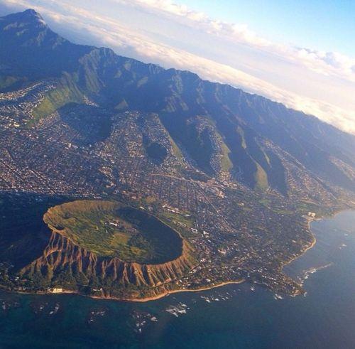 Aerial Shot Hawaii Honolulu Waikiki Diamond Head Waikiki Diamondhead
