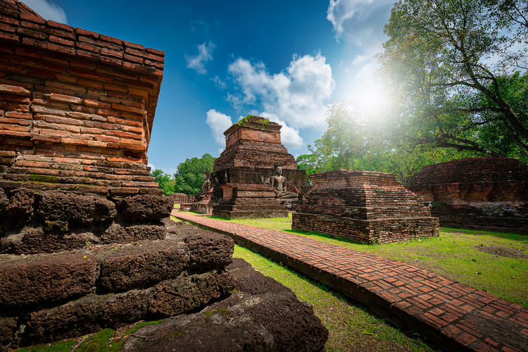 Old temple against sky