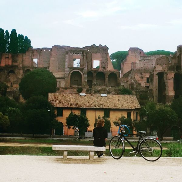 Bicycle Mode Of Transport Built Structure Rome Italy Circo Massimo Man Boy Travel Photography Travel Destinations Lost In The Landscape Be. Ready. Perspectives On People
