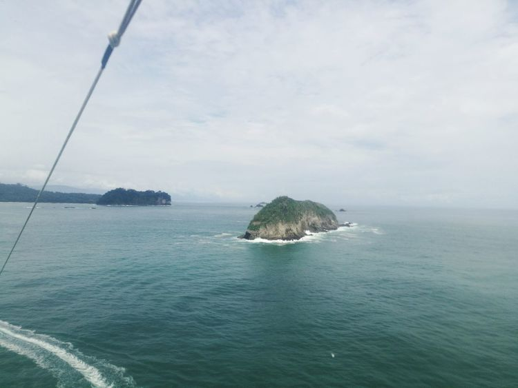 Sea Water Nature Tranquility Outdoors Beach Rock - Object Day No People Scenics Beauty In Nature Horizon Over Water Sky Parasailing Manuel Antonio National Park Costa Rica 🇨🇷