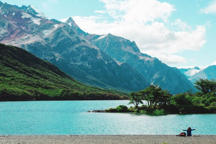 Hug // Laguna Madre, Fitz Roy (Argentina) // Feb'17 Mountain Mountain Range Scenics Nature Beauty In Nature Sky Water Tranquil Scene Landscape Lake Outdoors Tranquility Day Cloud - Sky Tree Snow Argentina Hiking Lake Fitz Roy El Chalten Power In Nature