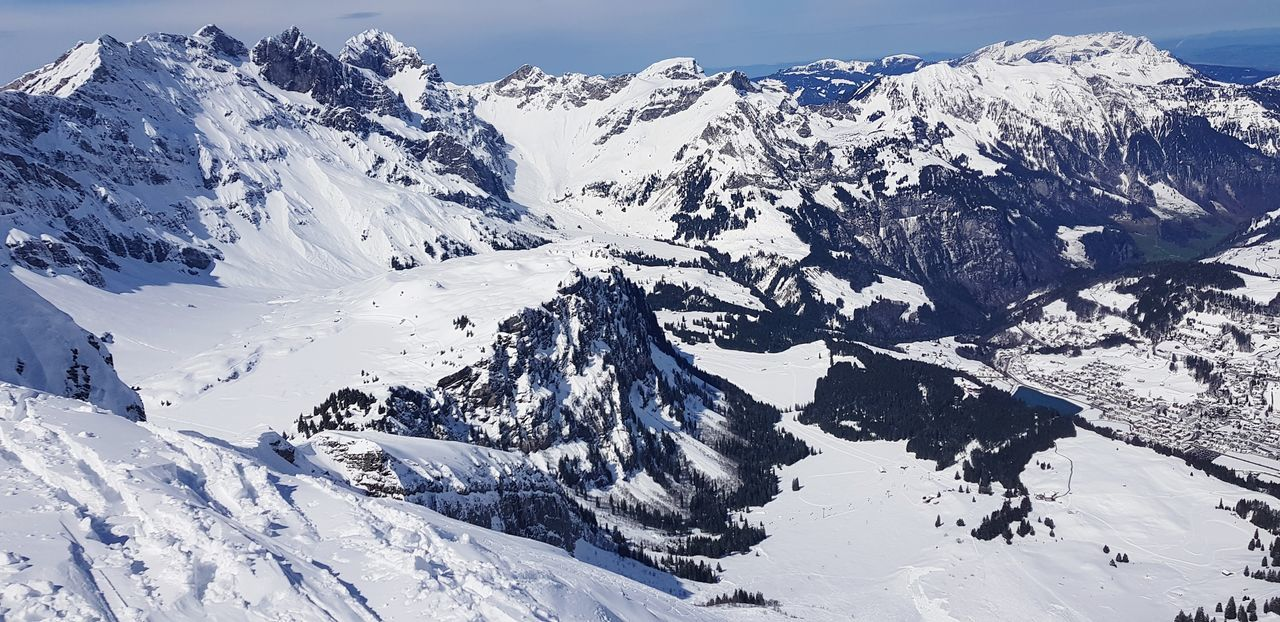 Titlis,Switzerland Cloud - Sky Laub Ski Town Mountain Snow Cold Temperature Backgrounds Winter Snowcapped Mountain Sky Mountain Range Landscape Close-up Iceberg Topography Rock Formation