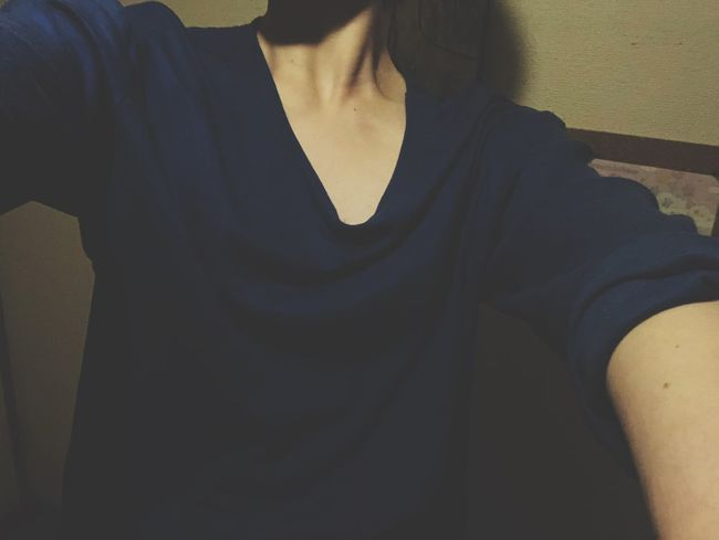 Midsection One Person Real People Front View Lifestyles Casual Clothing Shadow