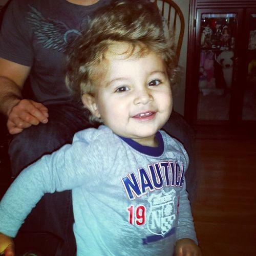I love him N his crazy hair. ♡ SundayMornings Mylovebug