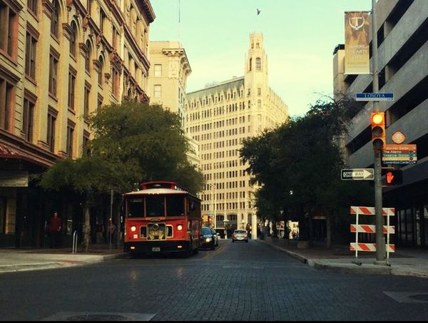 Foreground Middle Ground Background Satx Check This Out Hello World Downtown Trolley On The Road City 🏙