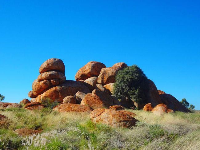 The Devil's Marbles Nationalpark Australia Australian Outback Backpacker