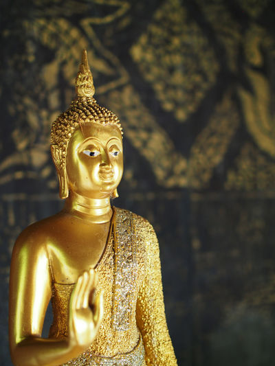 Buddha Statue Close-up Day Focus On Foreground No People Temple Thailand