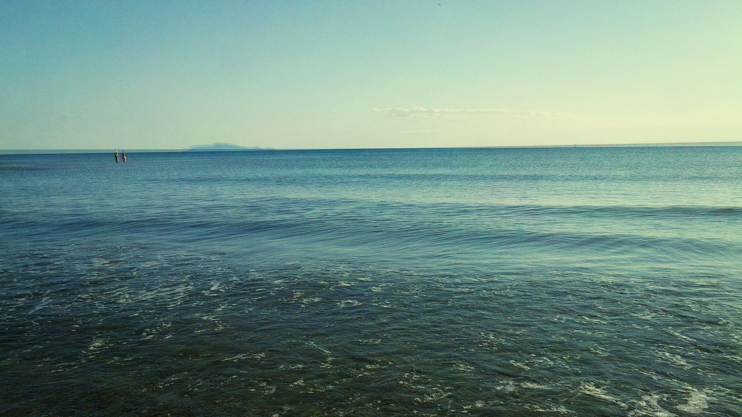 sea, water, horizon over water, tranquil scene, clear sky, scenics, tranquility, copy space, beauty in nature, nature, blue, seascape, idyllic, rippled, beach, waterfront, sky, shore, wave, calm
