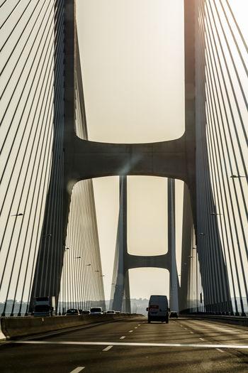 Bridge By Modern Buildings In City