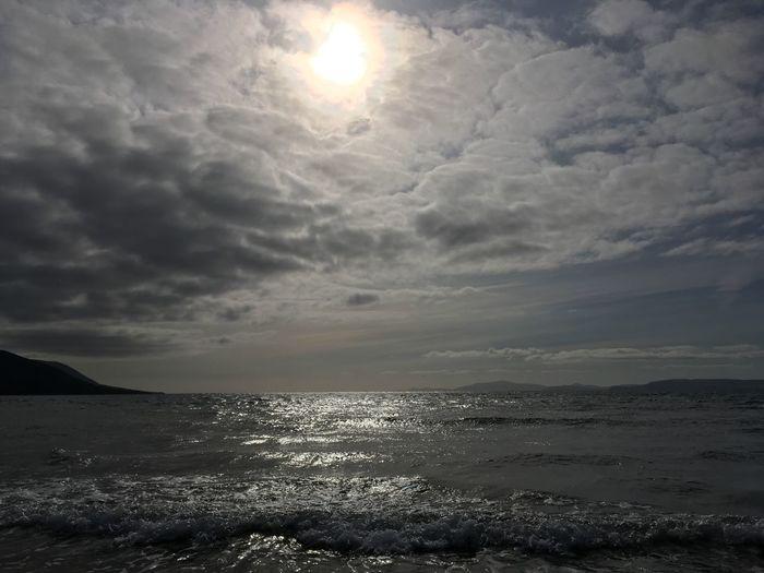 Atlantic Ocean Sea Sky Water Cloud - Sky Beauty In Nature Horizon Beach Nature Outdoors Sunlight Horizon Over Water