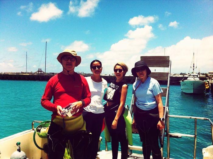 Family scuba diving vacations at Okinawa :)