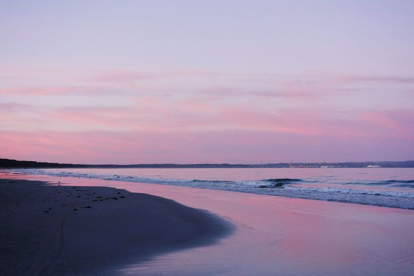 Sunset Beach Reflection Pink Color Sky Sand Outdoors Beauty In Nature Sea Nature Water Dramatic Sky No People Horizon Over Water Cloud - Sky Landscape Day Beach Photography Deutschland Beachlife Insel Rügen Baltic Sea Rügen Abendstimmung Islandlife