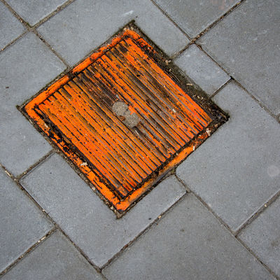 Orange Square squared Cityexplorer Close-up Day High Angle View No People Orange Color Outdoors Pavement Urban Geometry Urban Landscape Urbanphotography Walkway Minimalz