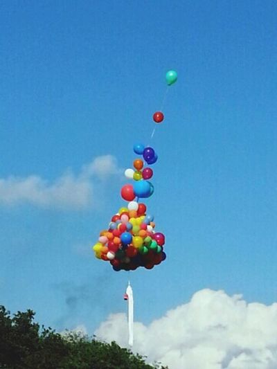 The Balloons Carried Our Wishes! Colorful