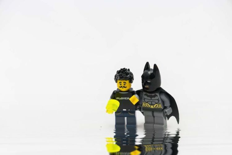 Friends Toyphotography LEGO Toy Representation Water White Background Childhood Studio Shot Copy Space Men People Reflection Underwater Diving Day Boys