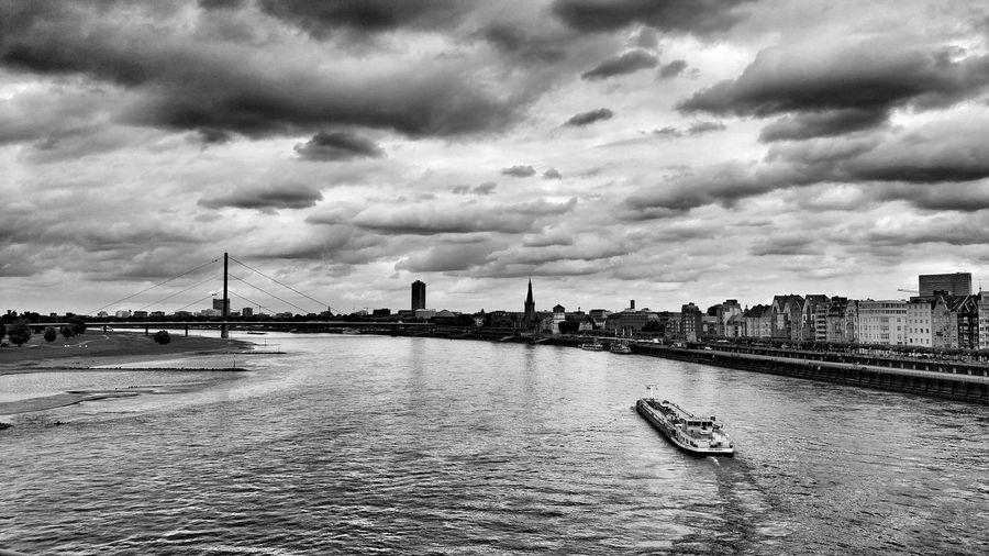 Cloud - Sky Outdoors Bridge - Man Made Structure Sky City Düsseldorf Tranquility Day Eyeemphotography Taking Photos ❤