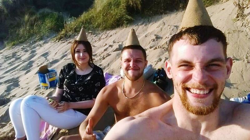 Friendship Happiness Beautiful Beach Life Beauty In Nature Ocean Sunny Beach Friends BeingSilly Being Silly Cone Heads Cone Head