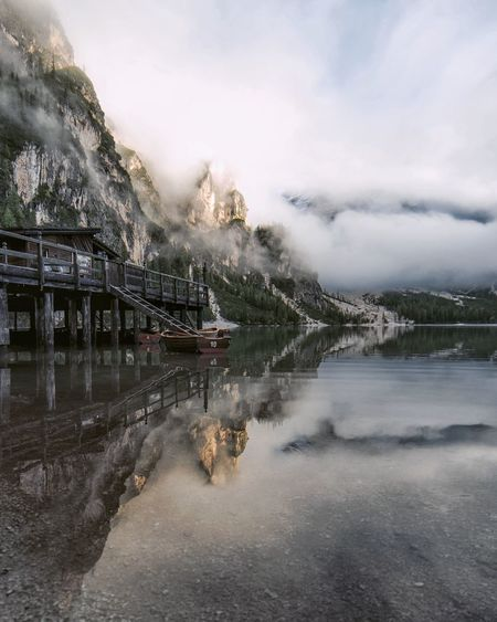 EyeEm Selects Water Cloud - Sky Lake Outdoors No People Day Nature Scenics Sky Beauty In Nature Vacations Travel Destinations Mountain Landscape Water_collection Nature Lake View Nikonphotographer Nikonphotography Italy Photooftheday Beauty In Nature Water Reflections Winter Fresh On Market 2017