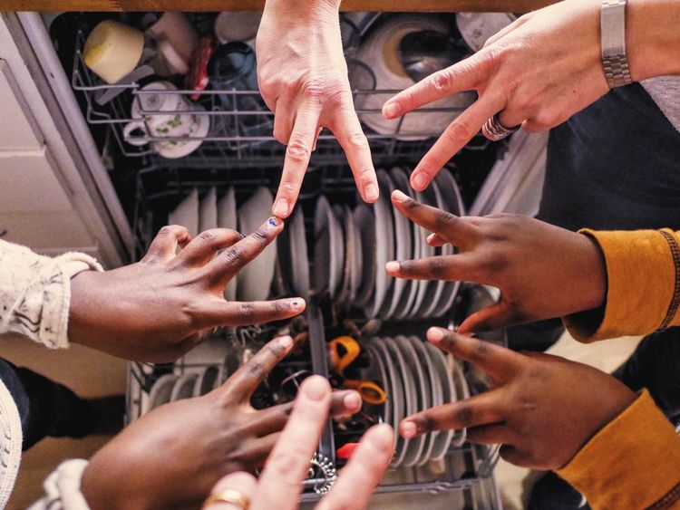 Daily Life Households Multicolors  Hands Together Handshape Hands Touching Hands Peace Family Matters Mixed Colours Peace Sign  Peace Signs Family Portrait Family Time Fingers Multicolored Mixed Color Kitchen Stories Multi Colored Household Kitchen Utensils Peace ✌ Peace Gallery Dishwasher Helping Hand