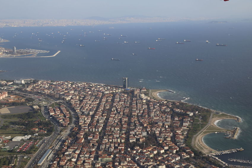 Istanbul Turkey Aerial View Architecture City Cityscape Day Horizon Landscape No People Outdoors Place Residential  Sea Town Urban