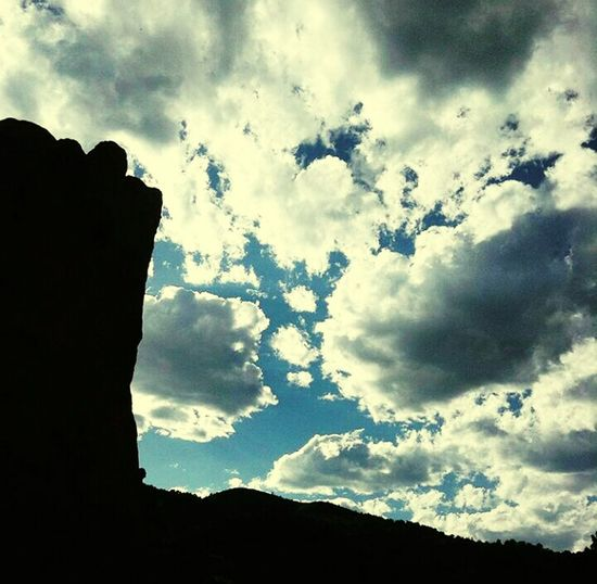 Cloud - Sky Sky Silhouette Nature Beauty In Nature Archival No People Outdoors Day Colorado Springs CO USA Tranquility Scenics Beauty In Nature Mountain Range Mountain Garden Of The Gods Jardin De Le Deux Beauty Sky And Clouds Nature