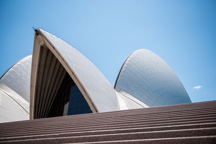 Sydney Sydney, Australia Sydney Opera House Harbour Australia Travel Travel Destinations Architecture Built Structure Sky Building Exterior Clear Sky Low Angle View Blue Day Modern Nature No People Outdoors City Roof Arts Culture And Entertainment Sunlight Building