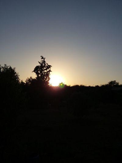 غروب الشمس