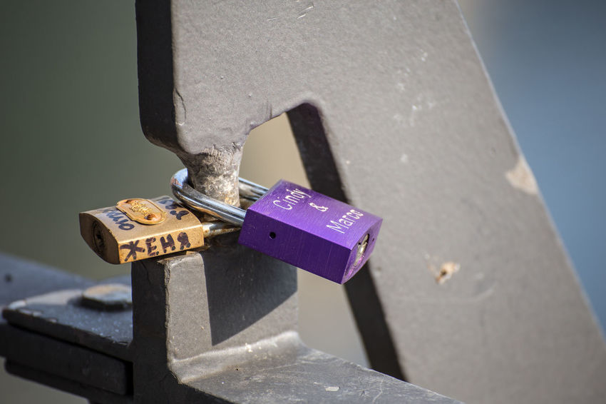 Close-up Day Hope Lock Love Lock Metal No People Outdoors Padlock Security Shadow Sunlight Symbol Of Love Text Water