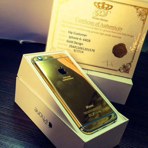 24K Gold Iphone6 iphone 6 now available contact me those who lives in uae 7500/- only