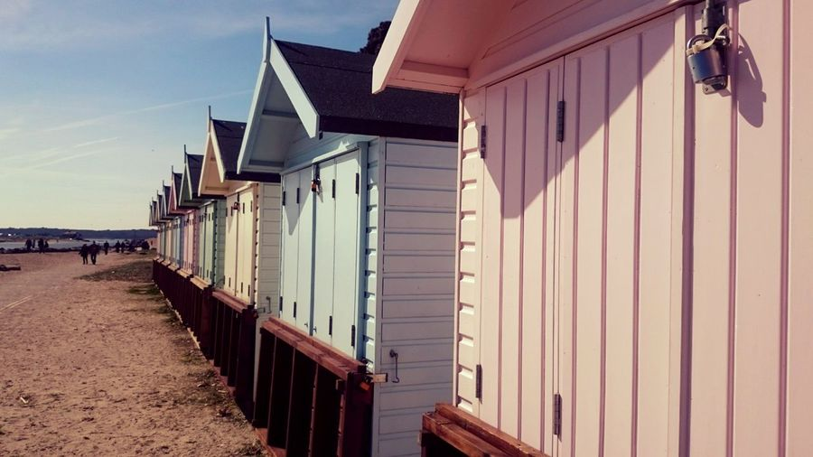 Avon Beach huts, Mudeford, Dorset. Beach Beach Hut Built Structure Beach Huts Seaside Wood - Material Sony Xperia Xperiaz2 Beach Photography Rows Of Things