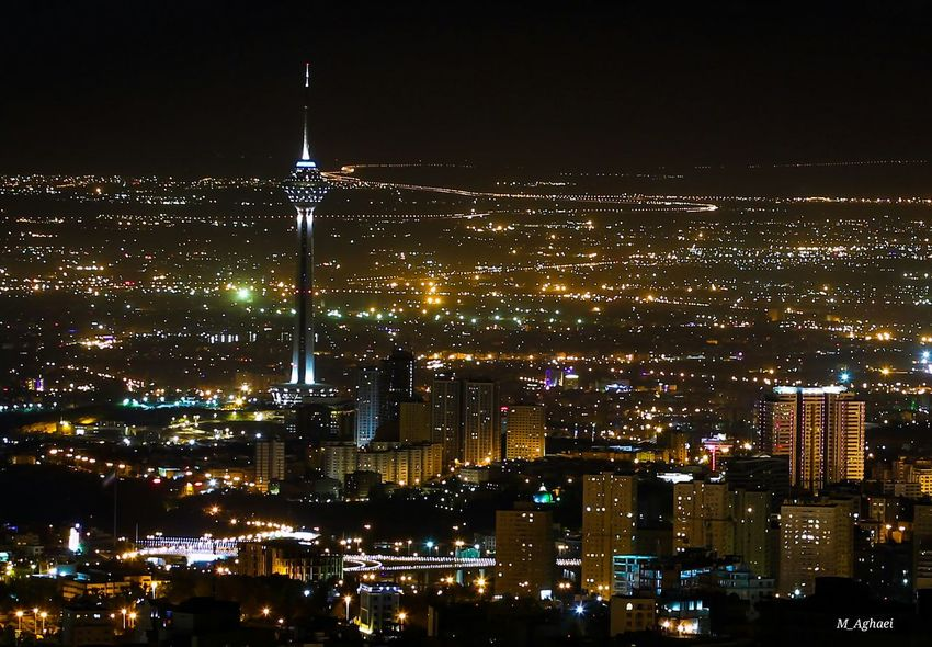 Nightphotography City Lights Cities At Night City View  Tehran Tehran Night