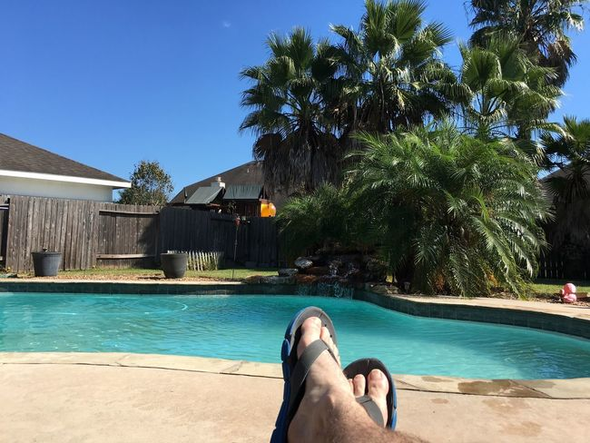 Beautiful day relaxing in October.