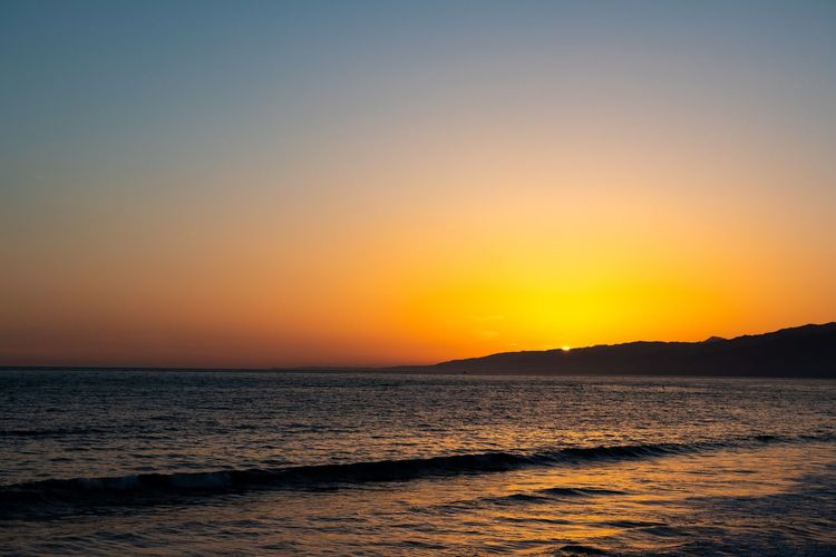 Peek a boo sunset Sunset Sky Scenics - Nature Beauty In Nature Water Tranquility Sea Horizon Over Water Tranquil Scene Outdoors Romantic Sky