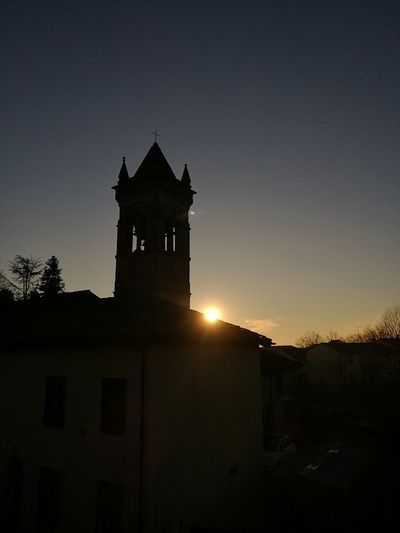 Cultures Architecture Curch No People Tramonti_italiani Built Structure Silhouette Sky