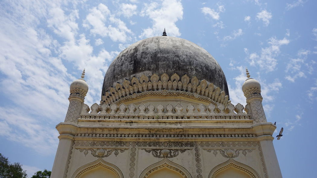 Beautiful low angle view of Qutub Shahi Tombs against sky - 02 Dome Travel Destinations Architecture Sky Low Angle View Day No People Outdoors Qutub Shahi Tombs Sonyalpha Sony A6000 Nwin Photography Hyderabad Diaries Hyderabad Monuments Persian Architechture Hyderabad Heritage Monument Religion