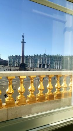 Architecture No People Day View From The Window... Gold Colored Gold Art And Craft Detail St. Petersburg St. Petersburg, Russia Russia Hermitage, St. Petersburg Imperial Palace Hermitage Museum Winter Palace Palace Square Alexander Column Sunny Day