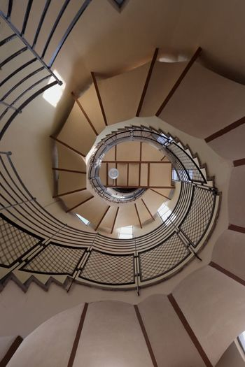 Staircase Steps And Staircases Spiral Built Structure Steps Architecture Railing Indoors  Low Angle View No People Spiral Stairs Day Sagrat Cor